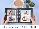 photo album with empty instant... | Shutterstock . vector #1140742853