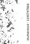 black musical notes on white... | Shutterstock .eps vector #1140747866