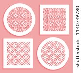 templates for laser cutting ... | Shutterstock .eps vector #1140749780