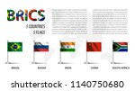 realistic flag of brics  ... | Shutterstock .eps vector #1140750680