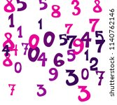falling colorful numbers on... | Shutterstock .eps vector #1140762146