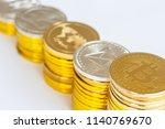 modern way of exchange. bitcoin ... | Shutterstock . vector #1140769670