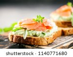 Green Cream Cheese  Salmon And...