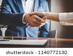 real estate agent and customers ... | Shutterstock . vector #1140772130