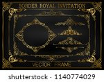 golden vintage vector set.... | Shutterstock .eps vector #1140774029