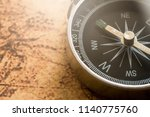 close up of old black compass...   Shutterstock . vector #1140775760