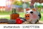 savings money for retirement... | Shutterstock . vector #1140777206