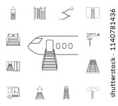 airplane ladder icon. detailed... | Shutterstock .eps vector #1140781436