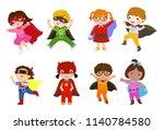 group of children superhero | Shutterstock .eps vector #1140784580
