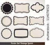 vector frame labels set... | Shutterstock .eps vector #114078523