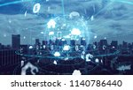 iot  internet of things ... | Shutterstock . vector #1140786440