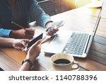 coworkers young women of... | Shutterstock . vector #1140788396