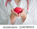 female medical doctor holding... | Shutterstock . vector #1140789413