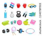 set of exercises equipment...   Shutterstock .eps vector #1140789503