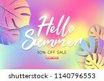 summer sale background layout... | Shutterstock .eps vector #1140796553