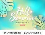 summer sale background layout... | Shutterstock .eps vector #1140796556