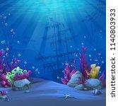 undersea world in blue theme.... | Shutterstock .eps vector #1140803933