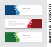 abstract banner design vector... | Shutterstock .eps vector #1140806813