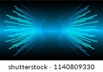 sound waves oscillating dark... | Shutterstock .eps vector #1140809330