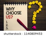 writing note showing why choose ...   Shutterstock . vector #1140809453