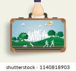 environment concept artwork... | Shutterstock .eps vector #1140818903