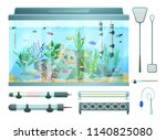 aquarium and devices set for... | Shutterstock .eps vector #1140825080
