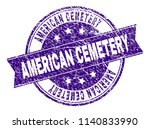american cemetery stamp seal... | Shutterstock .eps vector #1140833990