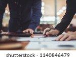businessman working on laptop... | Shutterstock . vector #1140846479