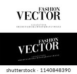 fashion elegant alphabet... | Shutterstock .eps vector #1140848390