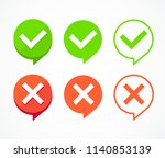 color checkboxes signs set tick ... | Shutterstock .eps vector #1140853139