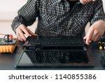 microelectronics. computer... | Shutterstock . vector #1140855386