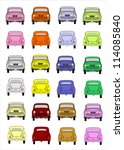 icon set vehicles | Shutterstock . vector #114085840