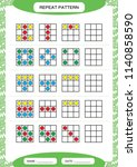 repeat pattern. square with... | Shutterstock .eps vector #1140858590