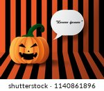 halloween pumpkins on the... | Shutterstock .eps vector #1140861896