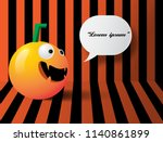 halloween pumpkins on the... | Shutterstock .eps vector #1140861899