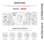 line banner of marketing.... | Shutterstock .eps vector #1140863246