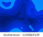papercut geometric topography... | Shutterstock .eps vector #1140865139