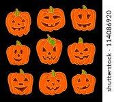 Halloween Pumpkin Set. Set Of...