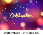 celebration party blurry... | Shutterstock .eps vector #1140881123