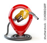 gas station icon  isolated on... | Shutterstock . vector #1140882689