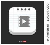 clapper board icon  | Shutterstock .eps vector #1140897200
