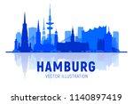 hamburg germany city skyline... | Shutterstock .eps vector #1140897419