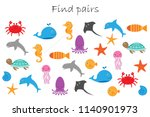 find pairs of identical... | Shutterstock .eps vector #1140901973