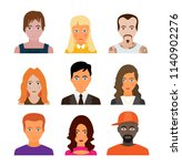 set of people icons in flat... | Shutterstock .eps vector #1140902276