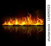 illustration of burning fire... | Shutterstock .eps vector #114090523