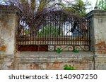 fragment vintage fence of brick ... | Shutterstock . vector #1140907250