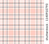 plaid pattern in pink  gray and ... | Shutterstock .eps vector #1140910793