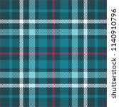 plaid check patten in teal... | Shutterstock .eps vector #1140910796
