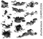 Collection Black Cloud Isolated White - Fine Art prints