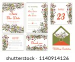 wedding invitation   save the... | Shutterstock .eps vector #1140914126